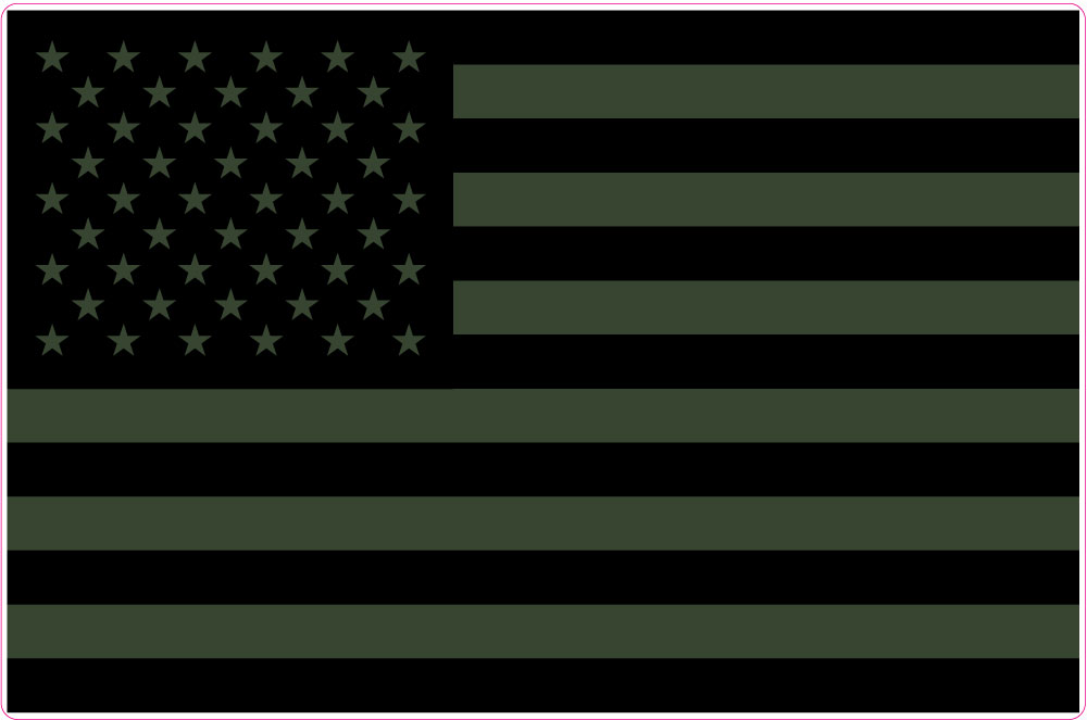American Flag 1 4 Subdued Vietnam Era Stickit2themax