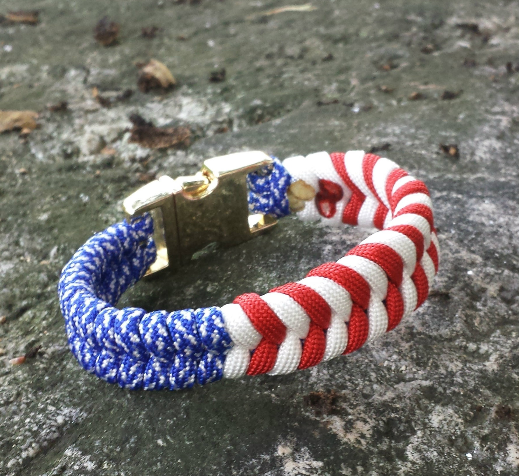 Usa Flag Paracord Bracelet Stickit2themax