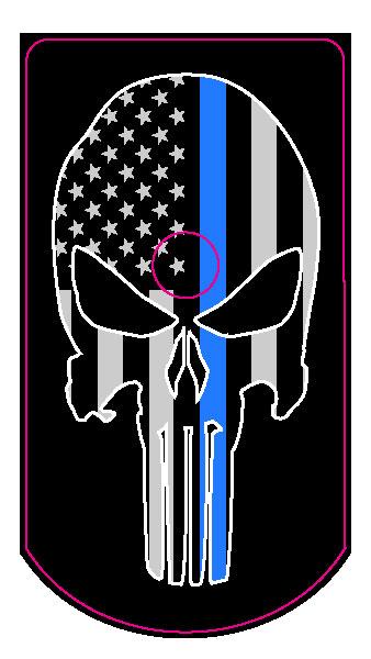 Skull Flag 1 0 Thin Blue Line Fits Sig P226 Magazines