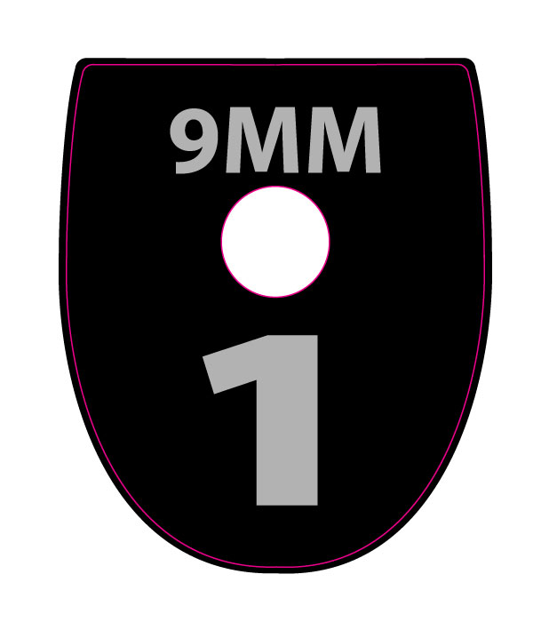 SIG SAUER P250 / P320 CALIBER and NUMBER BASE PLATE STICKERS